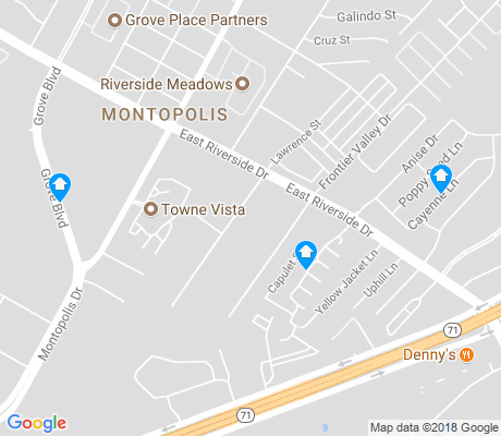 map of Southeast Austin apartments for rent