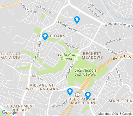 map of Village at Western Oaks apartments for rent