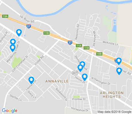map of Northwest Corpus Christi apartments for rent