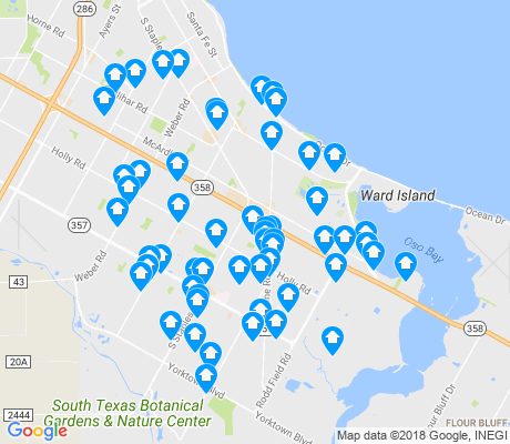 map of South Side apartments for rent