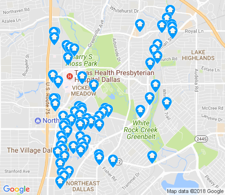 map of 75231 apartments for rent