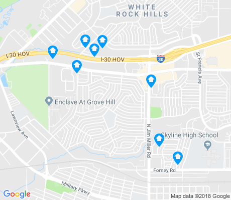 map of Buckner Terrace apartments for rent