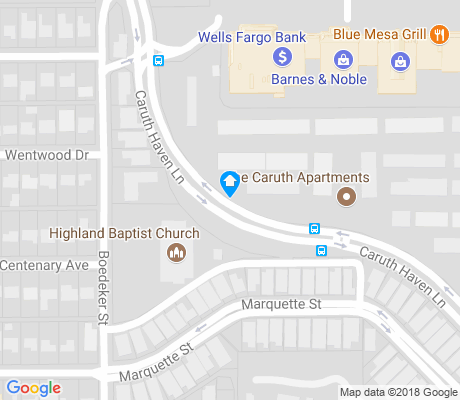 map of Caruth Hills and Homeplace apartments for rent