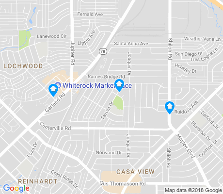 map of Casa View apartments for rent