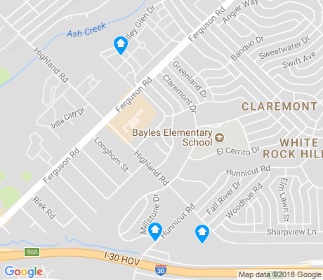 map of Claremont apartments for rent