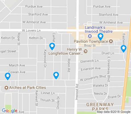 map of Greenway Park apartments for rent