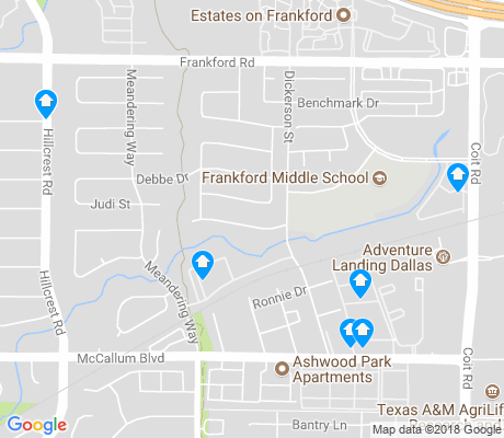 map of Highlands of McKamy apartments for rent