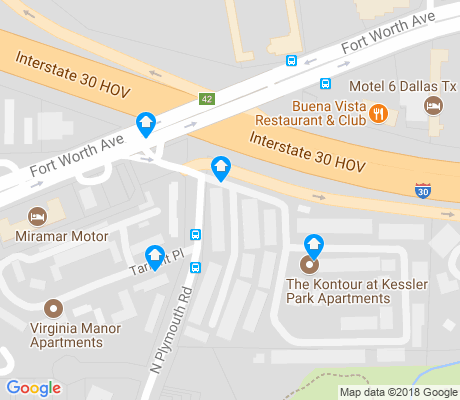 map of Kessler apartments for rent