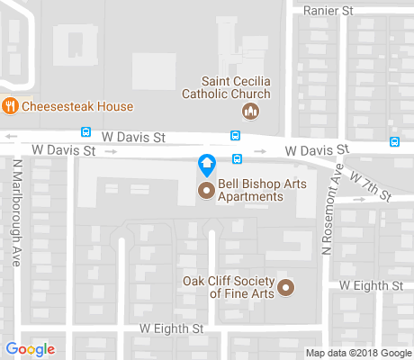 map of L. O. Daniel apartments for rent