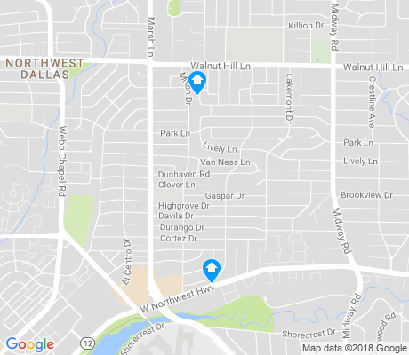 map of Midway Hollow apartments for rent