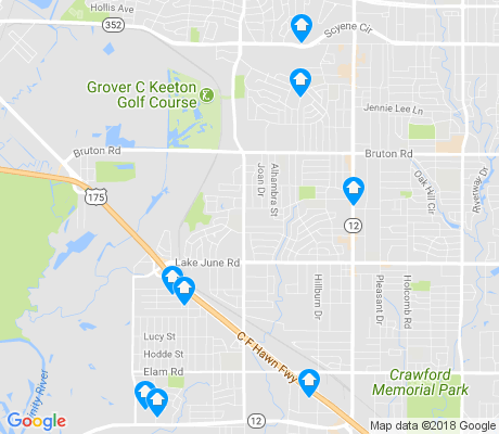 map of Piedmont apartments for rent