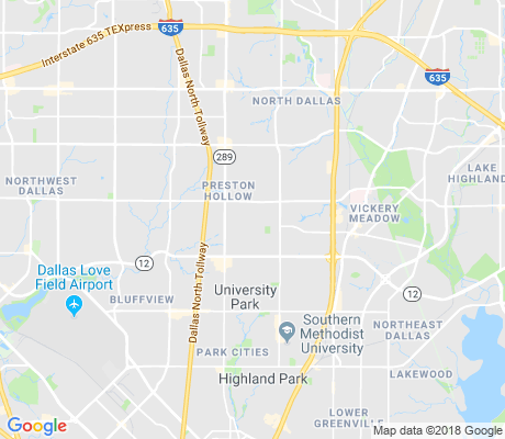 map of Preston Hollow East apartments for rent