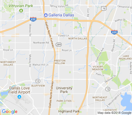map of Preston Hollow North apartments for rent