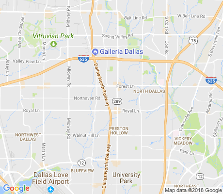 map of Preston Royal Northwest apartments for rent