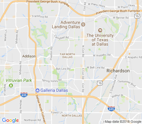 map of Prestonwood on the Park apartments for rent