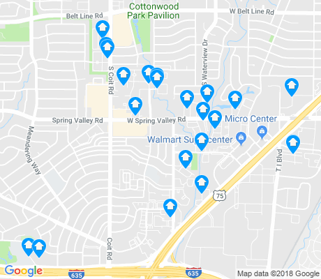 map of RANDCO apartments for rent