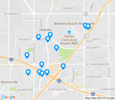 map of Redbird apartments for rent