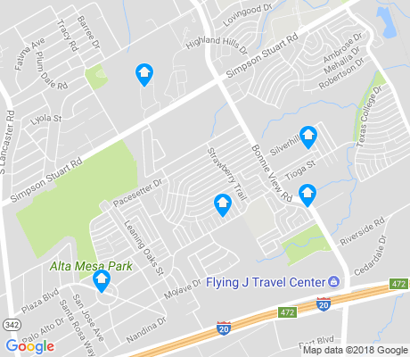 map of South East Dallas apartments for rent