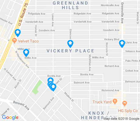 map of Vickery Place apartments for rent