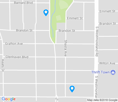 map of Winnetka Heights apartments for rent