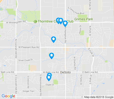 map of DeSoto apartments for rent