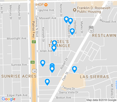 map of Angel's Triangle apartments for rent