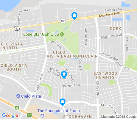 map of Cielo Vista East apartments for rent