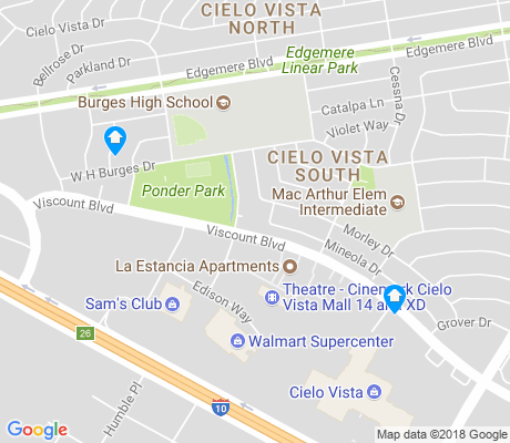 map of Cielo Vista South apartments for rent