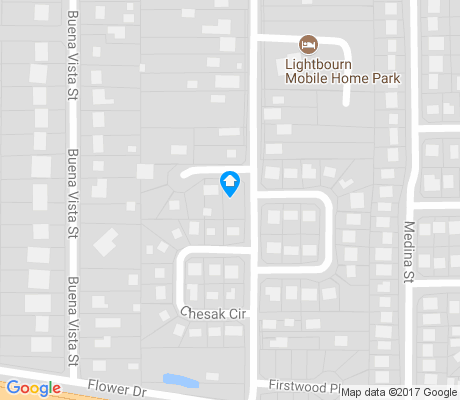 map of Clardy Fox apartments for rent