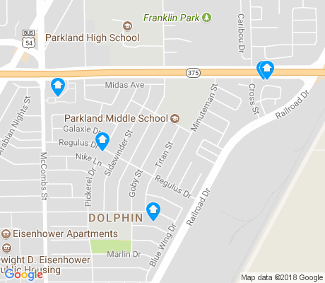 map of Dolphin apartments for rent