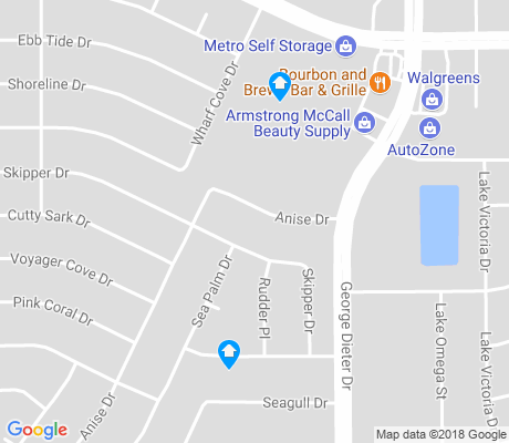 map of East Glen apartments for rent