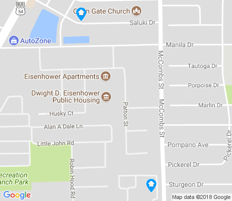 map of Eisenhower's Sahara apartments for rent