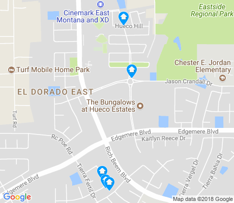 map of El Dorado East apartments for rent