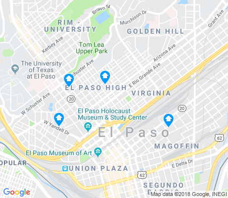 map of El Paso High apartments for rent