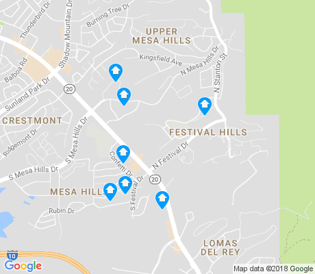 map of Festival Hills apartments for rent