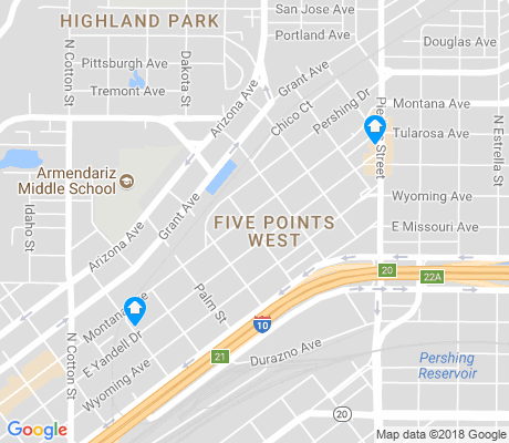 map of Five Points West apartments for rent