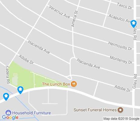 map of Hacienda Heights apartments for rent
