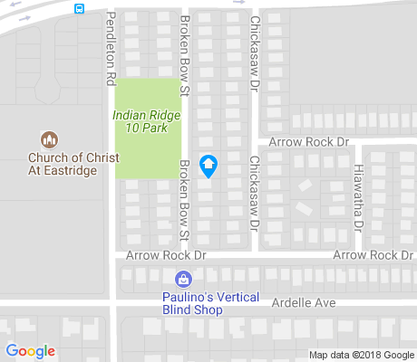 map of Indian Ridge East apartments for rent