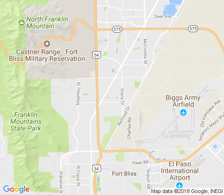map of Las Sierras apartments for rent