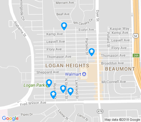 map of Logan Heights apartments for rent
