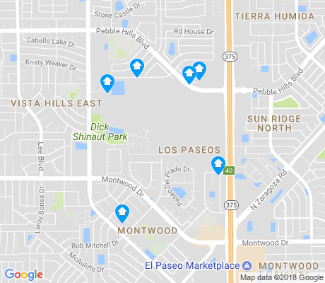 map of Los Paseos apartments for rent