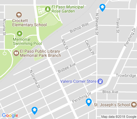 map of Manhattan Heights apartments for rent