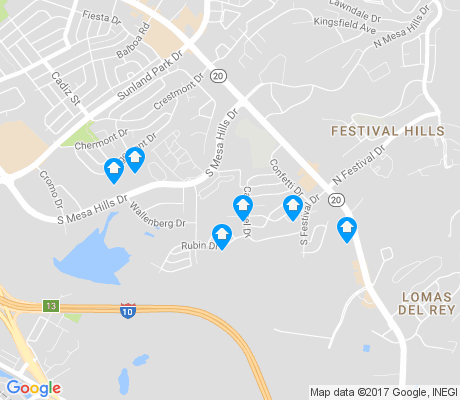 map of Mesa Hills apartments for rent