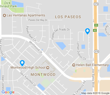 map of Montwood apartments for rent