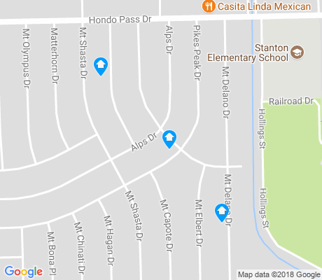 map of Mountain View North apartments for rent
