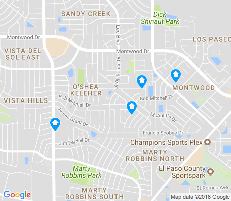 map of O'Shea Keleher apartments for rent