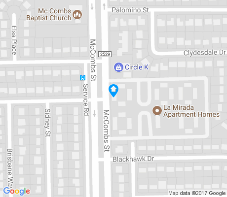 map of Palomino apartments for rent
