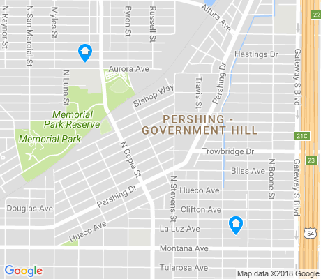 map of Pershing - Government Hill apartments for rent