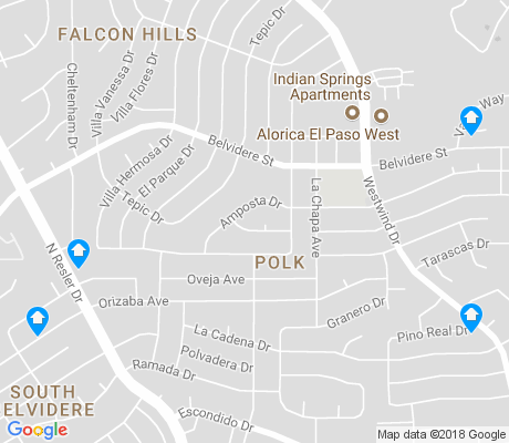 map of Polk apartments for rent