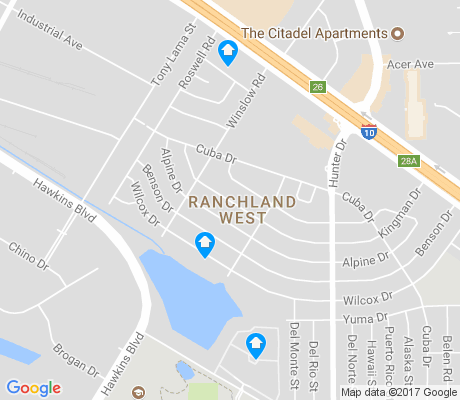 map of Ranchland West apartments for rent